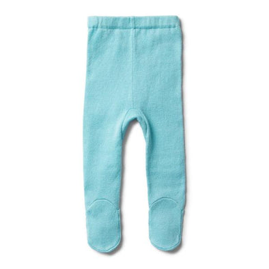 Wilson & Frenchy Petit Blue Knitted Legging with Feet*#