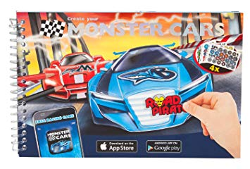 Monster Cars Sticker/Colouring Book