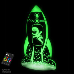 Aloka LED Sleepy Light - Outerspace Rocket - Dual Powered