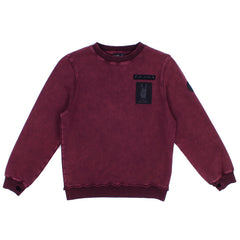 Alphabet Soup Raw Crew Acid Burgundy