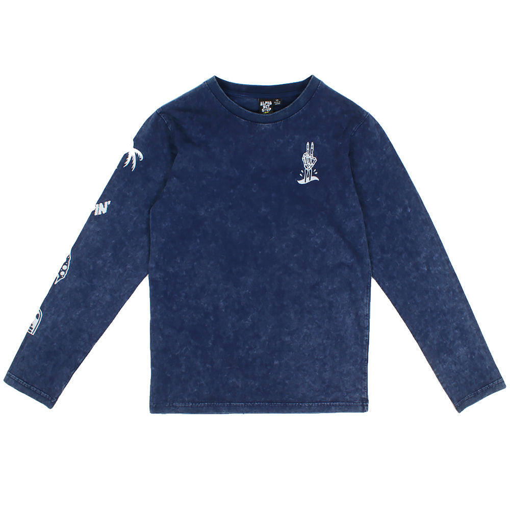 Alphabet Soup Rippin L/S Tee Mineral Navy *