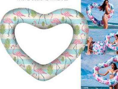 Air Time Luxe Giant Heart Swim Ring Vintage