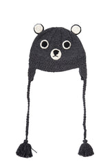 Acorn Baby Bear Beanie Grey/Black *
