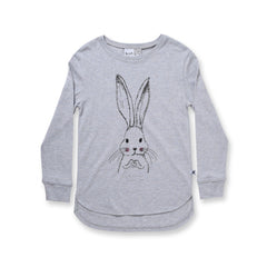 Minti Some Bunny Loves You L/S Tee Mist Marle