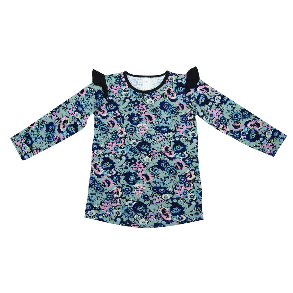 He And Her Long Sleeve Frill Tee Botanical *