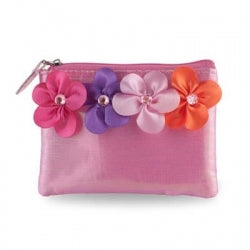 Pink Poppy Flower Fairy Coin Purse Hot Pink