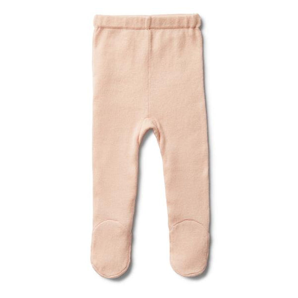 Wilson & Frenchy Peachy Pink Knitted Legging with Feet *#