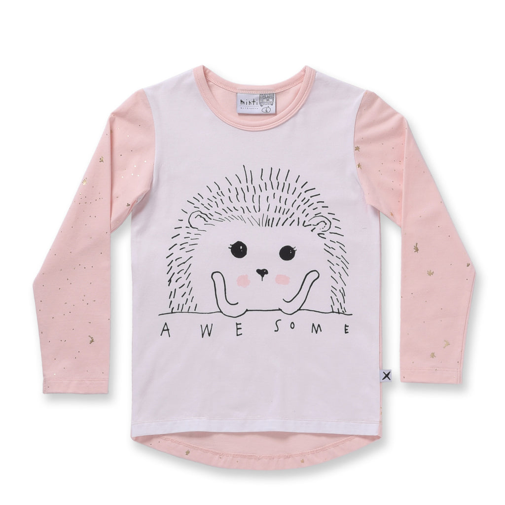 Minti Awesome L/S Tee White/Ballet *