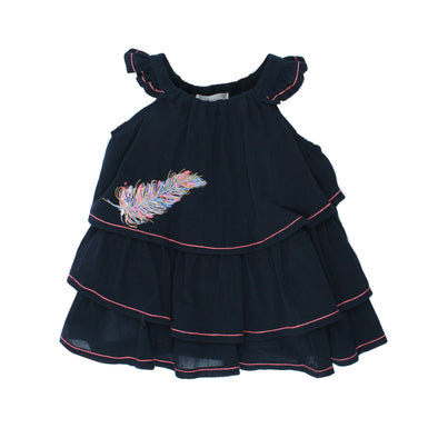 Fox & Finch Baby Kindred Feather Sleeveless Dress Navy +