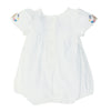 Fox & Finch Meadow Romper with Embroidery Cloud +
