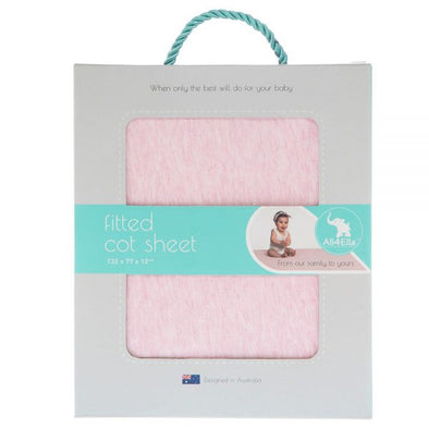 All4Ella Fitted Cot Sheet Marle Pink