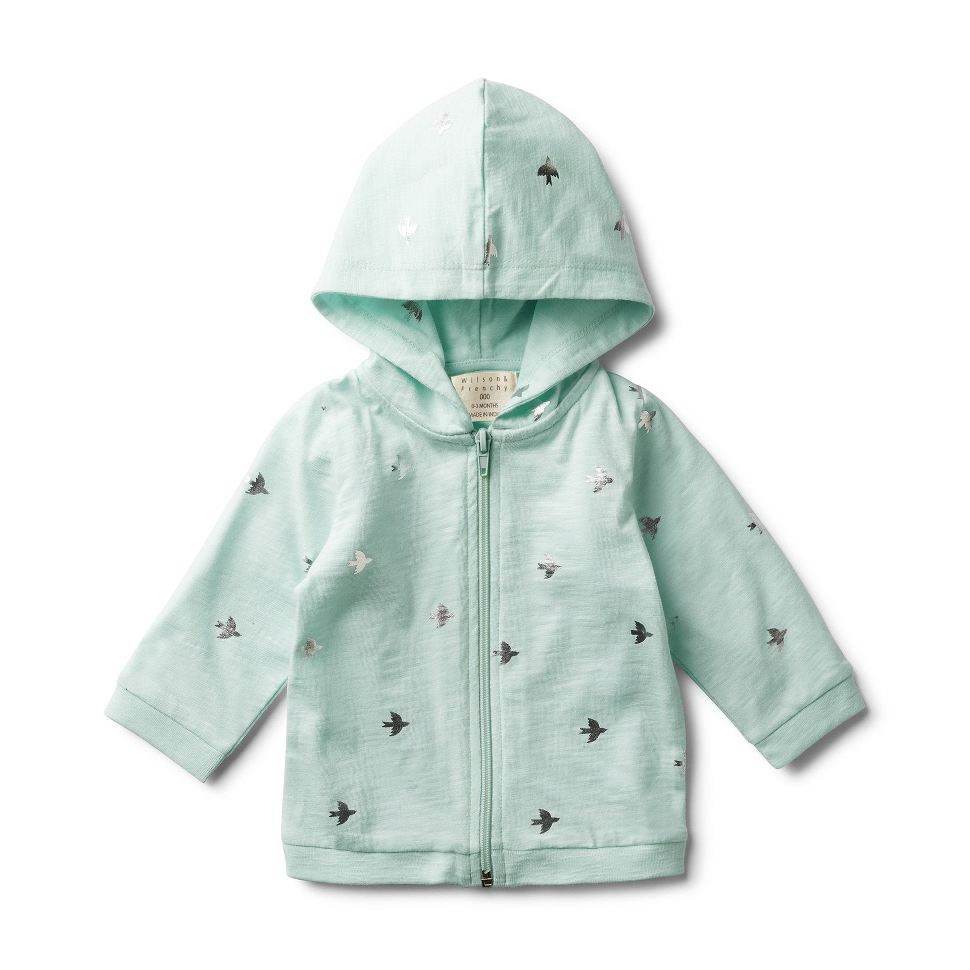 Wilson & Frenchy Hooded Jacket Fly Away Mint # *