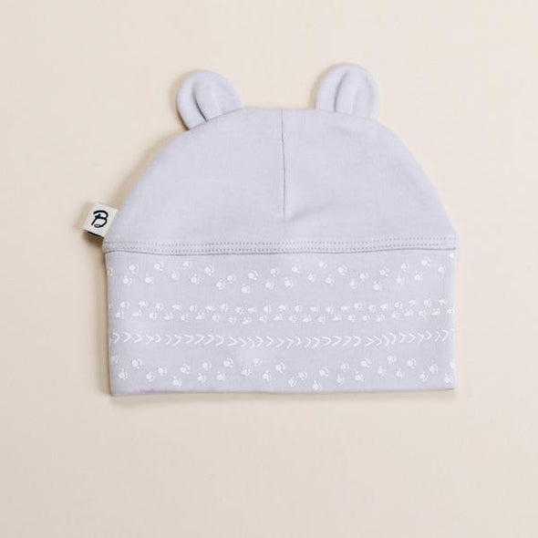 Bibalicious Beanie Footprints On The Land Grey +