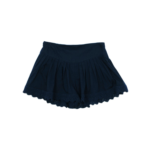 Tahlia Jaipur Flirty Short with Lace Trim Navy +