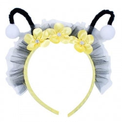 Pink Poppy Bumble Bee Headband