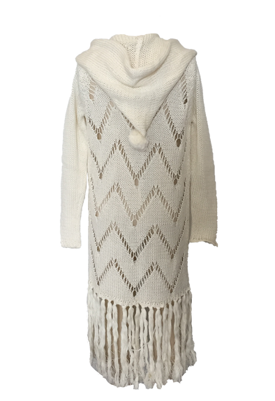 Mii Love Mu Hooded Cardigan Cream#