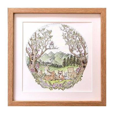 Willow & Winona Art 'Animals of the Woodlands' Print