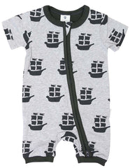Korango Pirate Ships Short Sleeve Romper