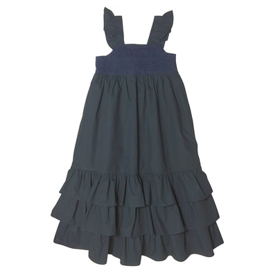 Love Henry Indigo Lace Boho Dress Navy^