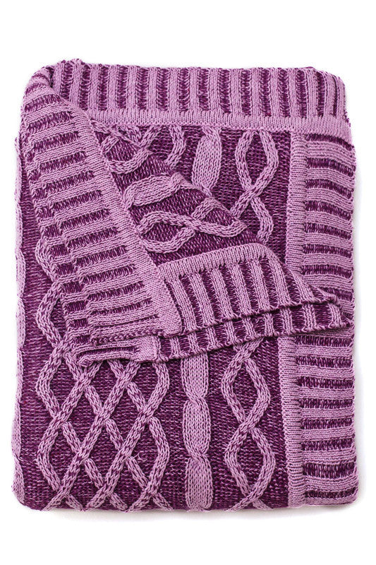 Jujo Baby Plated Cable Blanket Blackberry Multi *