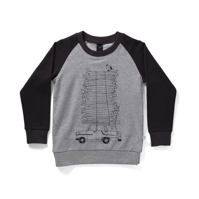 Littlehorn Gone Surfing Sweat Grey/Oil ^