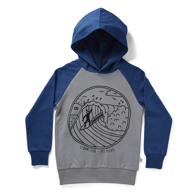 Littlehorn Stormy Seas Hood Grey/Navy  +