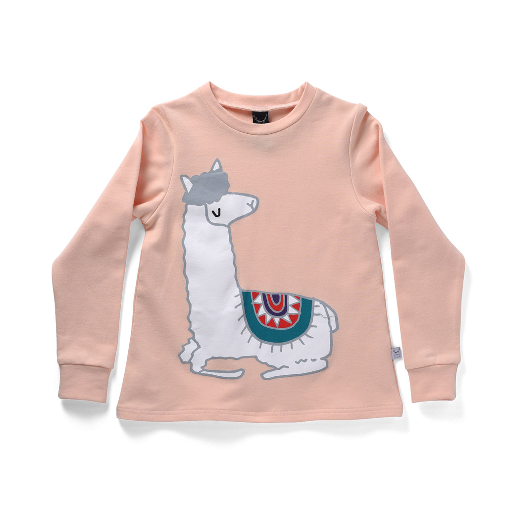 Littlehorn Lovely Llama Sweat Peach *