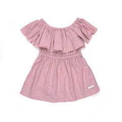 Sudo Mini Lily Rose Ruffle Dress Blush