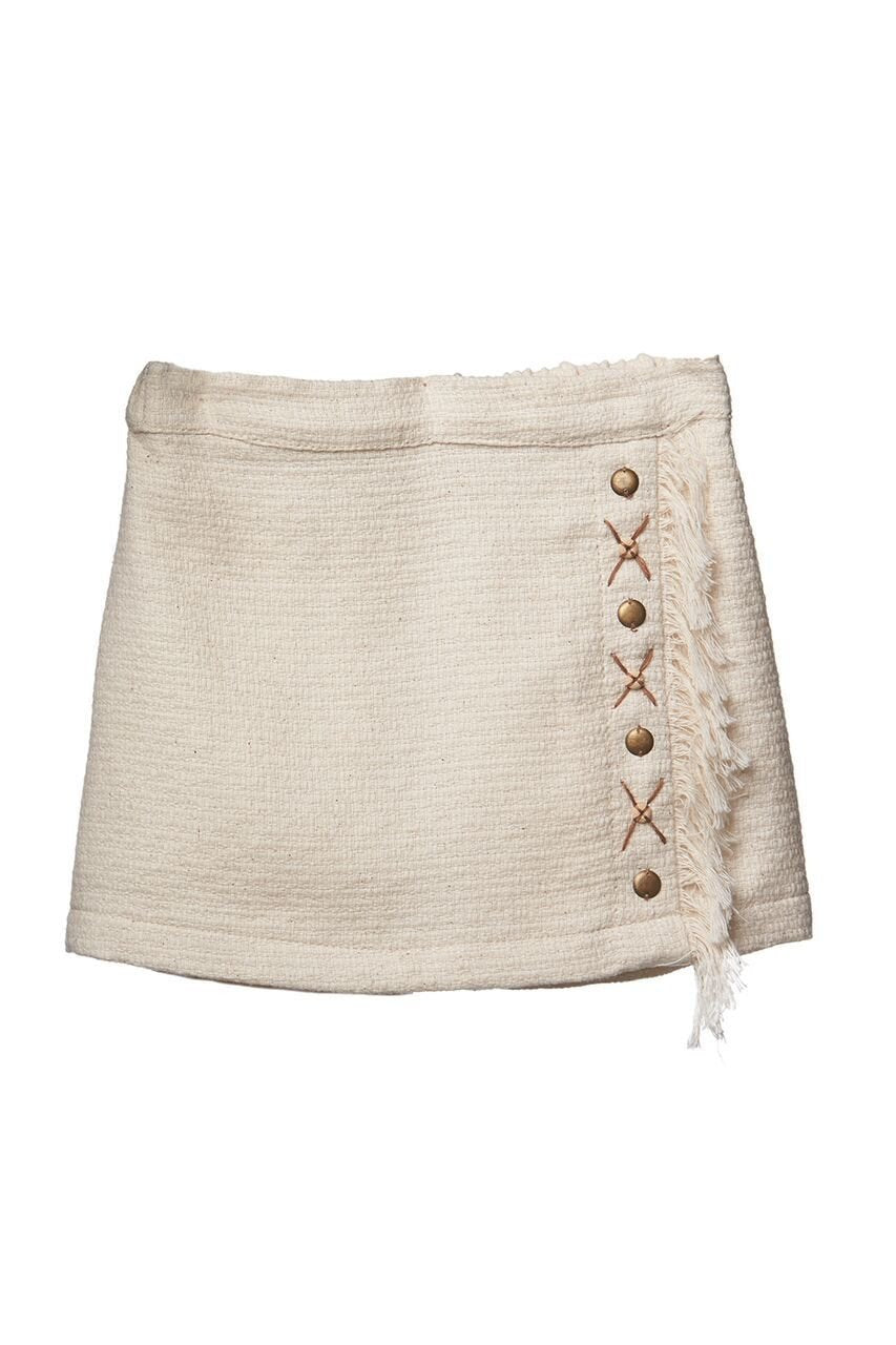 Mii Love Mu Wrap Skirt Boho Linen *#