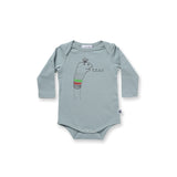 Minti Baby Sock Face L/S Onesie Muted Green*#