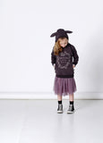 Minti Somebunny Loves You Furry Hood Dark Grey *