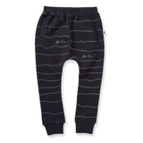 Minti Pencil Lines Furry Trackies Black