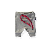 Minti Baby Track Short Grey Marle/Hot Pink #