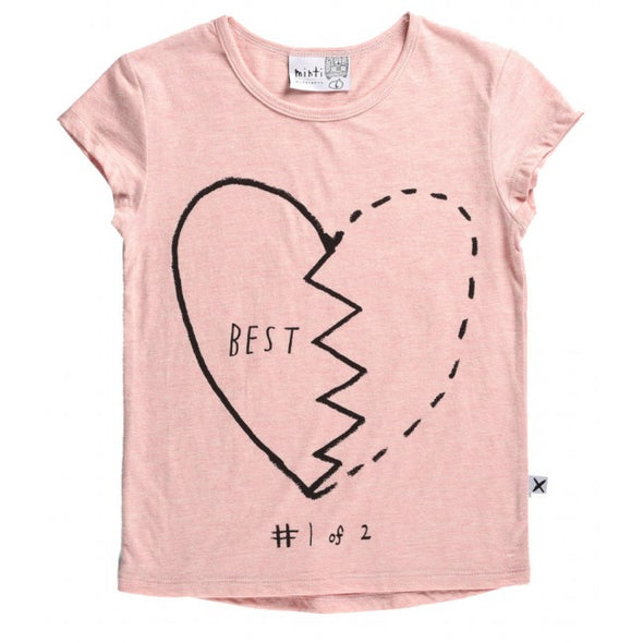 Minti Tee Best Friends Pink Marle Set of 2*