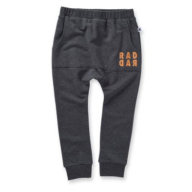 Minti Rad Rad Furry Pouch Trackies Charcoal ^