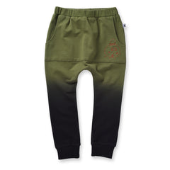 Minti Scribble Man Furry Pouch Trackies Army *#