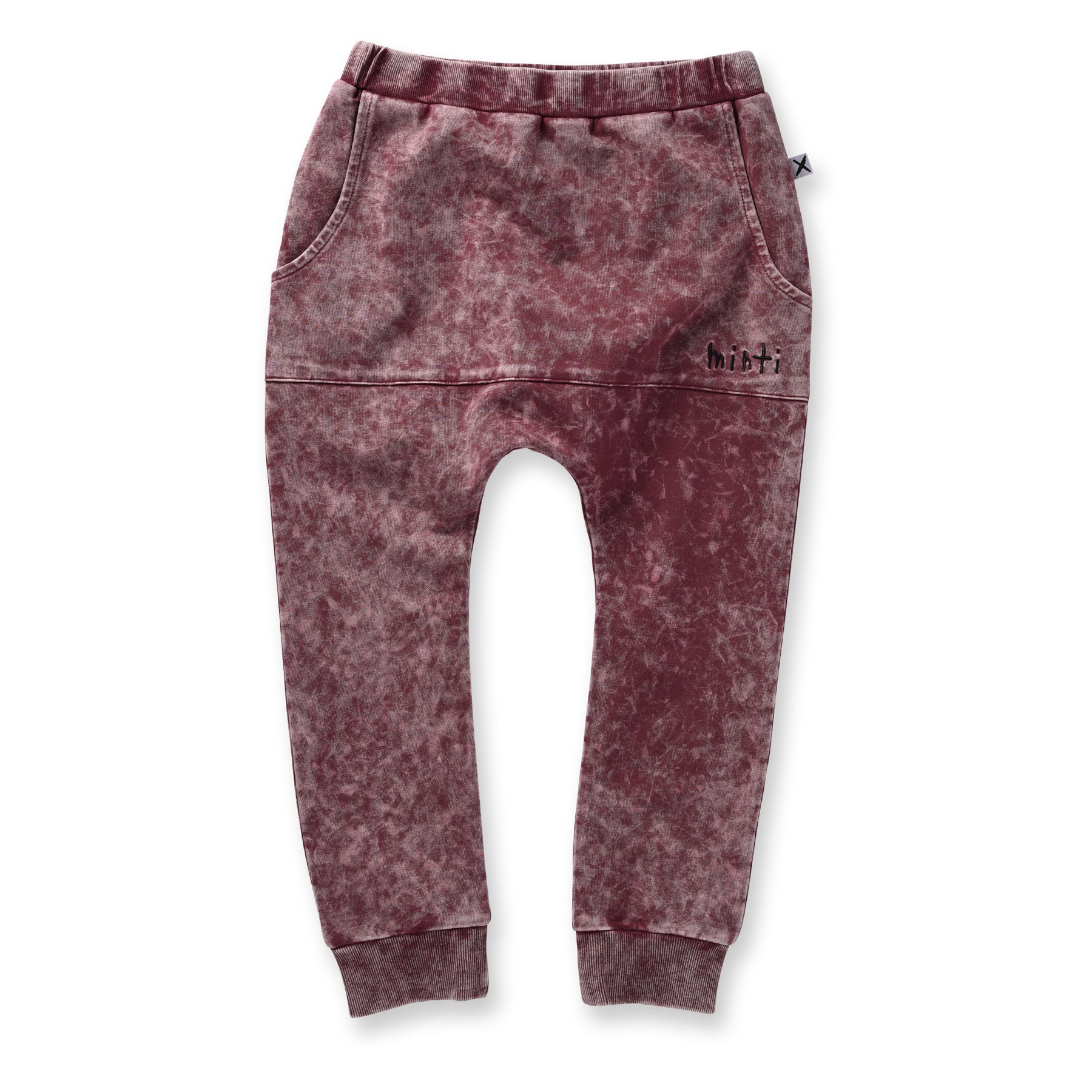Minti Blasted Pouch Trackies Burnt Red Wash