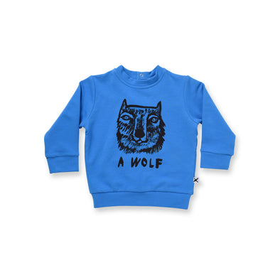 Minti Baby A Wolf Dome Crew Electric Blue^