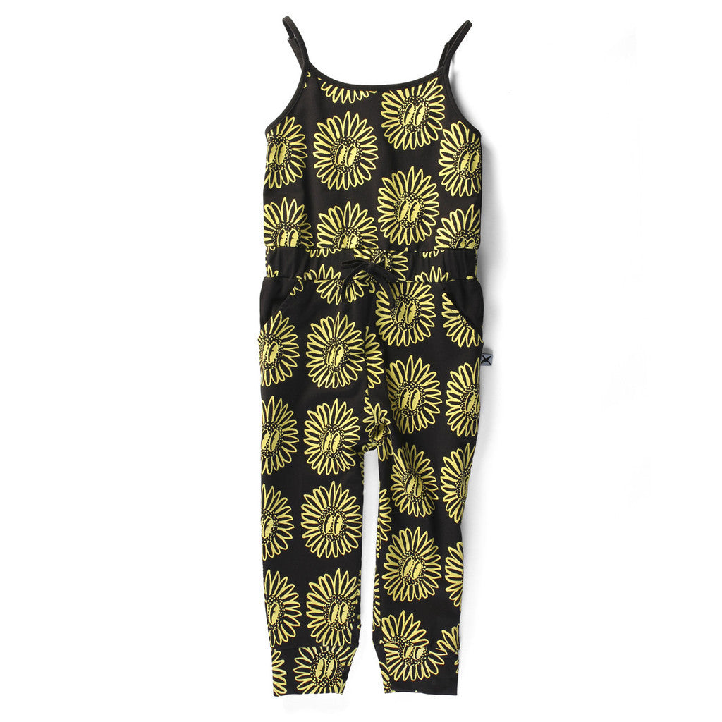 Minti Jumpsuit Sunflower Party Black #