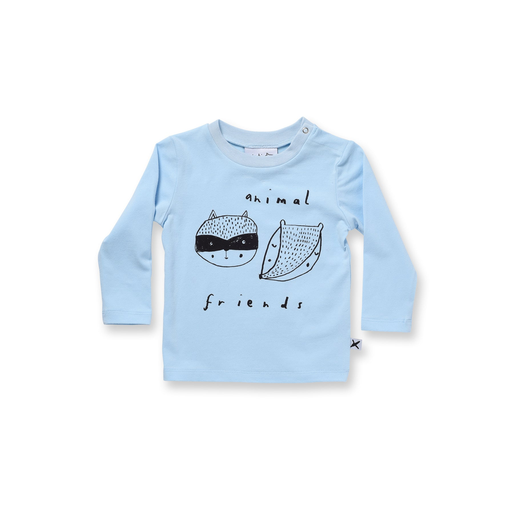 Minti Baby Animal Friends Dome Long Sleeve Tee Baby Blue #