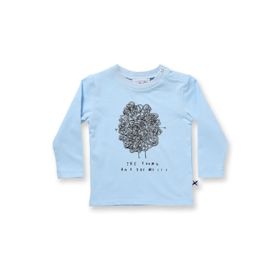 Minti Baby Young & Messy Dome Tee Baby Blue*