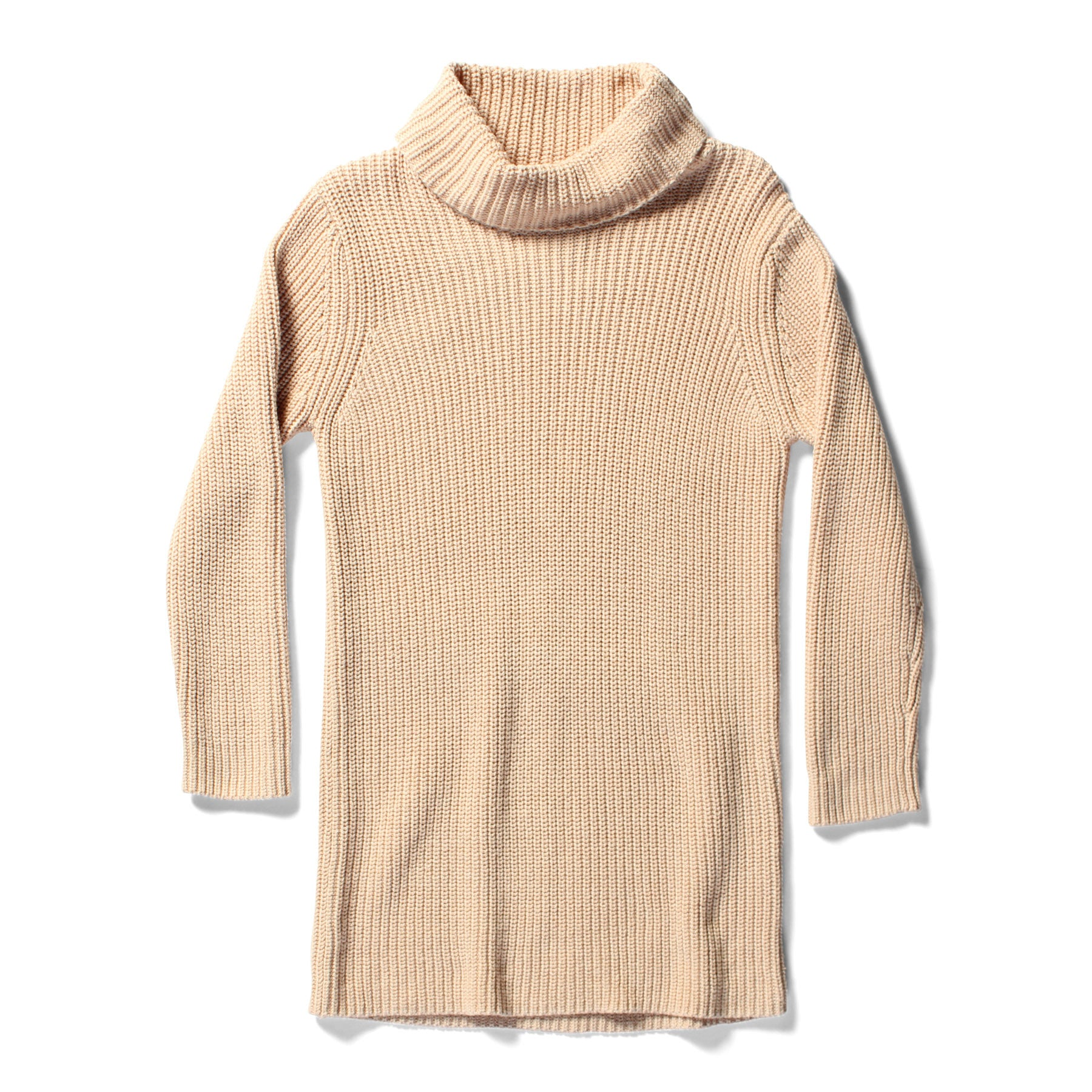 Minti Knitted Jumper Dress No Print Oatmeal *