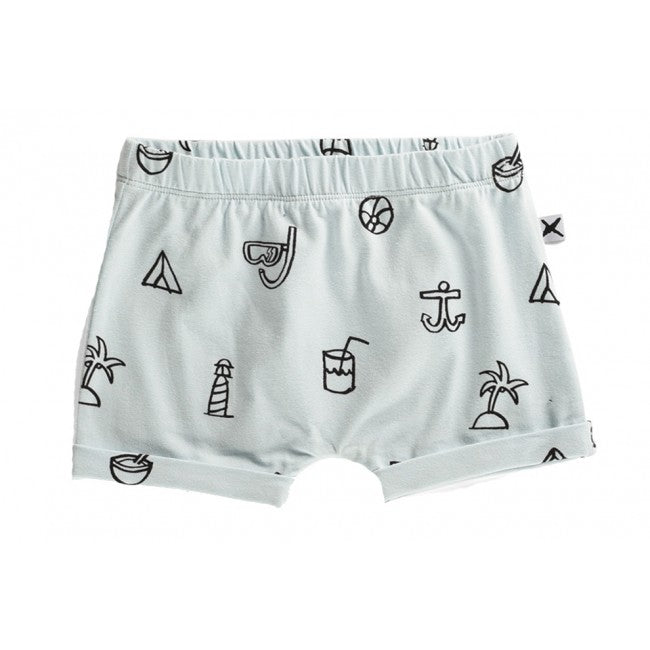 Minti Baby Shorts Summer Icon Baby Blue*