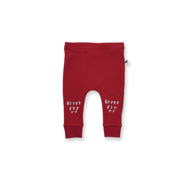 Minti Baby Brrr Trackies Burnt Red*