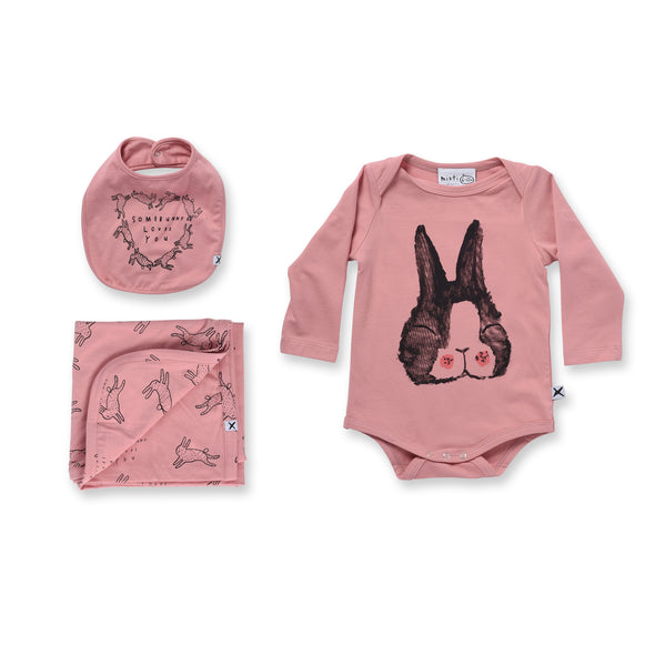Minti Baby Happy Bunny Gift Pack Rose*#