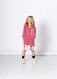 Minti Daisy Furry Zip Up Rose