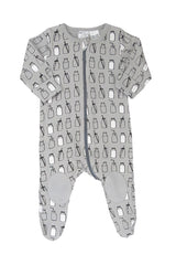 Gaia Knee Patch Long Zip Onesie Milk Bottle *#