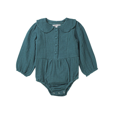 Minouche Playsuit Evie Long Sleeved Teal +
