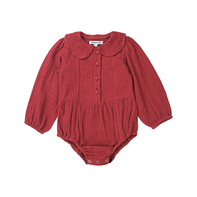 Minouche Playsuit Evie Long Sleeved Rose *