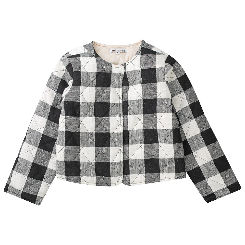 Minouche Quilted Jacket Holly Black/White Check